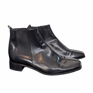 Prada patent leather ankle booties
